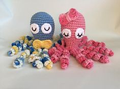Crochet PATTERN for a preemie octopus stuffed toy. Studies have shown that the tentacles replicate the umbilical cord from the mothers womb, which can be of comfort for premature babies. This pattern is worked in continuous rounds. Create your own preemie comfort octopus with this pattern. Tentacles measure less than 22cm which is hospital specifications. Finished product is approx 8x3. Can be made larger/smaller with different hook sizes.  ***NO refunds given for digital files***