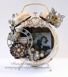 Tim Holtz altered alarm clocks | altered a Tim Holtz clock. Here is a rough run down of what I did.