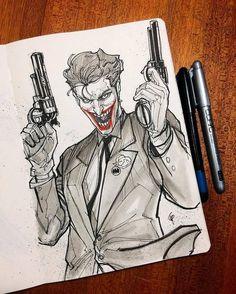 The inktober challange Sketch for today using Drawing Brush pen. Always has the last laugh 🃏 Sketchbook by Joker Comic, Harley Quinn Comic, Joker Pics, Joker Art, Batman Art, Joker Batman, Joker Sketch, Joker Drawings, Cool Drawings