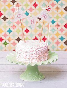 Cake Smash Cake Topper / Photography Prop Banner for Cake / Birthday Cake Banner. $12.00, via Etsy.