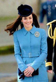 Catherine, Duchess of Cambridge attending the 75th anniversary of the RAF Air Cadets at St Clement Danes Church on Sunday February 7th 2016