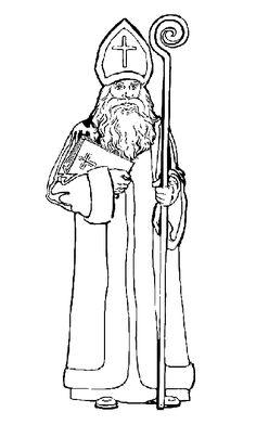 Malvorlage Sankt Nikolaus Weihnachteen Sankt