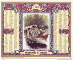 Calendario dei ricordi anno 1942