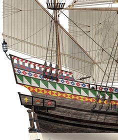 Golden Hind, Pirate Maps, Old Sailing Ships, Sir Francis, Model Ships, Royal Navy, Tudor, A3, Drake