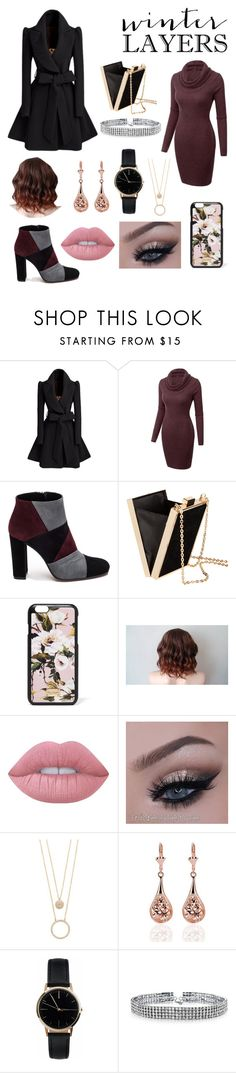 """""""Winter Layers"""" by fandoms-and-good-music ❤ liked on Polyvore featuring Roberto Festa, H&M, Dolce&Gabbana, Lime Crime, Kate Spade, Freedom To Exist and Bling Jewelry"""