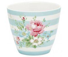 "GreenGate Becher ""Latte cup Marie"" pale blue"