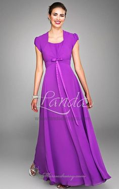 modest empire waist dress. If I had a lavender/lilac themed wedding, this dress would make a lovely bride's maid gown.