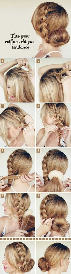 "Braided Bun hair tutorial on Latest Hairstyles big-braided-bun"" data-componentType=""MODAL_PINbig-braided-bun"" data-componentType=""MODAL_PIN Braided Hairstyles Tutorials, Pretty Hairstyles, Braid Tutorials, Braid Hairstyles, Latest Hairstyles, Hairstyle Ideas, Wedding Hairstyles, Beauty Tutorials, Summer Hairstyles"