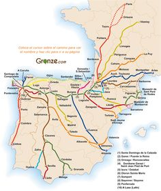 Map  Caminos Santiago Don't limit yourself to the Camino Francés? There are a multitute of well marked Caminos in Spain, Portugal, France, and beyond. Take at look at the map at this link, and consider that every city marked on a Camino is a great place to begin a pilgrimage.
