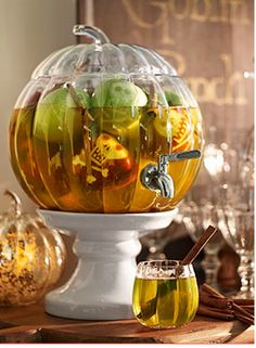 Spook your guests with this fun idea for serving apple cider.