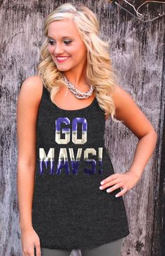 best loved b30fa e1e5a Dallas mavericks racer back tank. Gameday Couture · NBA Gameday Apparel