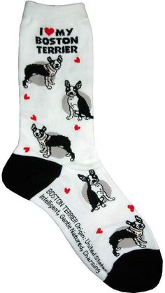 I Love My Boston Terrier Women Socks Cotton New Gift Fun Unique Fashion