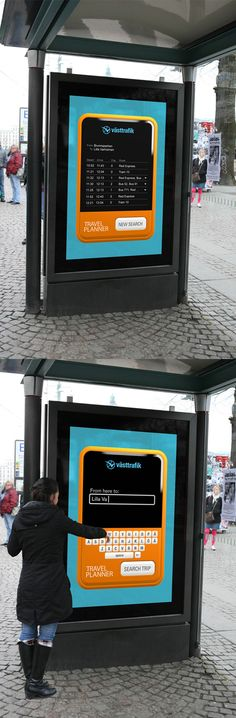 Creative Outdoor Advertisement Design - VastTrafik http://arcreactions.com/