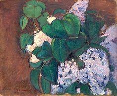Emile Bernard (1868-1941) Les lilas,1887
