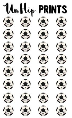 Sports Stickers Soccer Stickers Kawaii Sports by UnHipPrints
