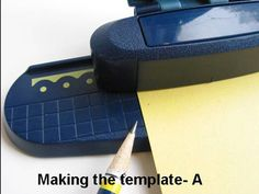 great tutorial for punching a scalloped square/ rectangle using the fiskars threading water border punch