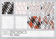 Soso - tangle pattern by perfectly4med, via Flickr