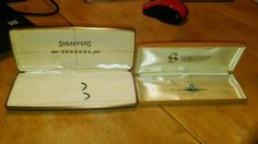Vintage Lot of 2 Collectible Scheaffer Cases/Boxes for pens/pencils *USED*   #Sheaffer