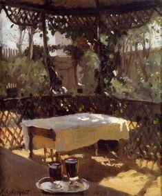 John Singer Sargent - Two wine glasses (1874)