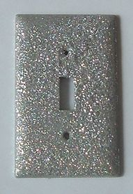 Glitter light switch plate! Take the light switch off, brush mod podge glue on and douse in glitter..