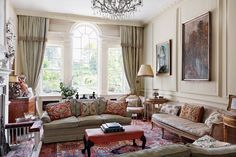 See all our stylish living room design ideas on HOUSE by House & Garden, including this room designed by Caroline Harrowby