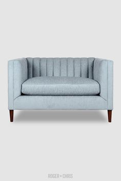Mid-Century Modern Channel-Tufted Shelter Sofas, Armchairs, Sectionals | Harley from Roger + Chris