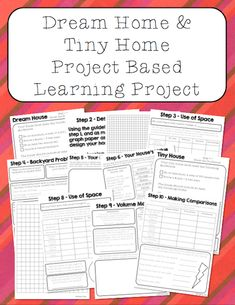 This project guides students through the process of making blue prints for both a dream home and a tiny home! The students have the opportunity to practice a lot of math skills while working on the project including multiplication, division, area, volume, fractions, decimals, percents, graphing, and much more!