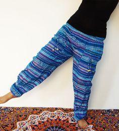 Striped yoga casual pant hippie dance dress harem pant