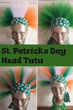 St. Patrick's Day Shamrock Irish Flag Headband by lookatmybooties