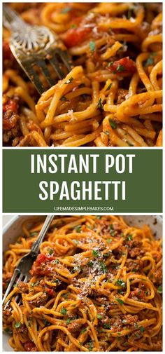 Easy, effortless and almost mess-free! This Instant Pot spaghetti is made in one pot in just 30 minutes. It's a delicious meal the entire family will love. #instantpotspaghetti #spaghetti #instantpotmeals