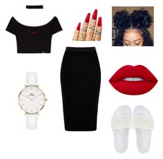 """""""Untitled #59"""" by ardrey on Polyvore featuring River Island, Puma, Lime Crime and Daniel Wellington"""