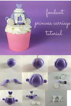 Fondant Princess Carriage Tutorial by Nina Maltese Fondant Tips, Fondant Cakes, Cupcake Cakes, Cake Topper Tutorial, Fondant Tutorial, Fondant Figures, Cake Decorating Techniques, Cake Decorating Tutorials, Torta Princess