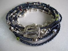 Seed Bead Triple Strand Wrap Bracelet by TurquoisePearlLLC on Etsy, $62.00 Original by Turquoise Pearl, LLC