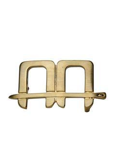 Alessandro Albanese | Gürtelschnalle AA Logo in Gold