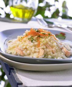 risoto de salmão