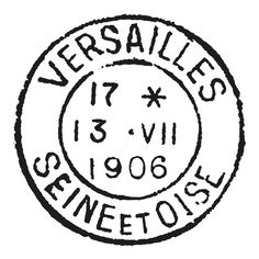 Vintage French Versailles Postage Stamp Stencil Image size: 7 x 7 inches OR 5 inch Need this in a different size? Just send us a convo.