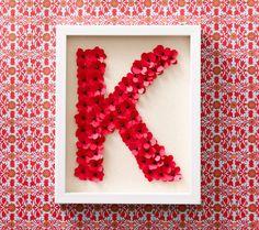 Clinton Kelly Framed Flower Initial