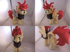 MLP OC Gale Force Plush by Little-Broy-Peep