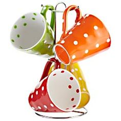 Polka Dot Mugs on Tree