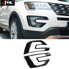 For Ford Explorer 2016 2017 Stainless Steel Console Side Decorative Frame Trim