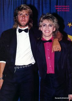 Simon and Nick - the only people who could pull off the mullet XD