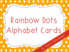 Simply print, laminate, and cut these alphabet cards in half. My students enjoy using these cards as they point and sing to the Alphabet or when they are reviewing letter sounds. I hope that you will be able to find use for this product in your own classroom!