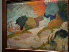 Laveuses à Arles ou lavandières ; 1888; P.Gauguin; huile sur toile; musée des Beaux arts Bilbao
