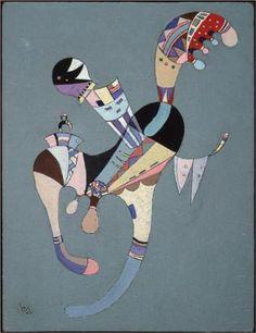 Wassily Kandinsky (1866 - 1944) | Abstract Art | A floating figure - 1942