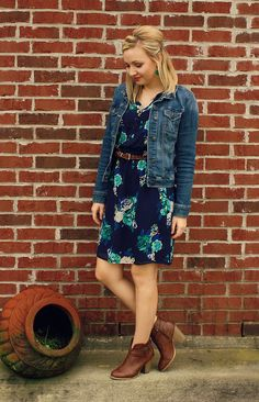 goodwillista | floral dress styled for spring