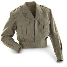 Used Belgium Military Surplus US-style Wool Ike Jacket, $19.99