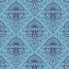 Hawthorne Threads - Mariner - Jellyfish Bloom in Surf and Indigo