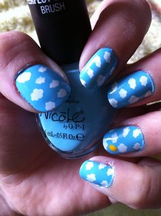 cloud nails, I would add birds to it too