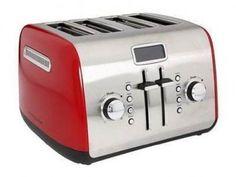 KitchenAid KMT422ER 4-Slice Digital Toaster W/LCD Display Empire Red Steel New - http://www.amazoncraze.com/diet/kitchenaid-kmt422er-4-slice-digital-toaster-wlcd-display-empire-red-steel-new/