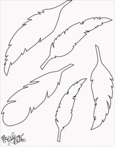 DIY Feather Bunting that is so easy to make, and includes a free printable feather template. Silhouette Cameo, Silhouette Portrait, Feather Template, Feather Stencil, Bird Template, Feather Pattern, Feather Cut, Feather Drawing, Tribal Feather